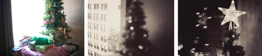 small christmas tree, portland christmas, portland westin hotel, christmas at westin portland, newlywed christmas, husband and wife blog