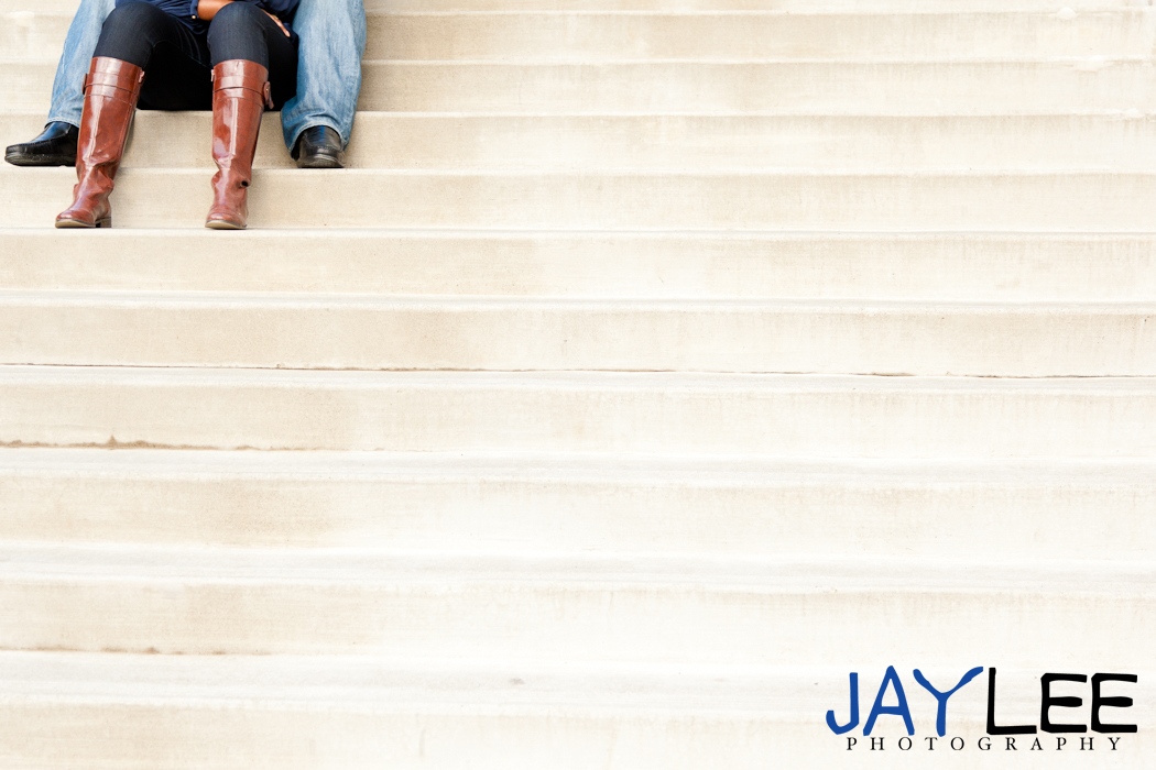 feet engagement photography, stairs engagement photography, seattle engagement photographer unique