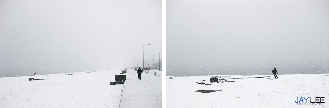 happy marriage blog, newlywed blog, wedding photography blog, snow on alki photography, snow in west seattle 2012