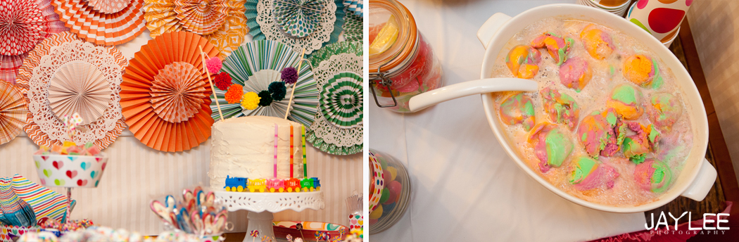 birthday party, 3 year old birthday party, girl's birthday party, rainbow birthday party theme, birthday party photographer seattle, seattle event photographer, seattle children's photographer, seattle kids photographer, seattle family photographer, rainbow cake
