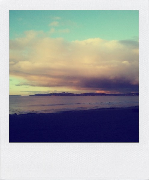 seattle sunset, valentine's day sunset, alki beach sunset
