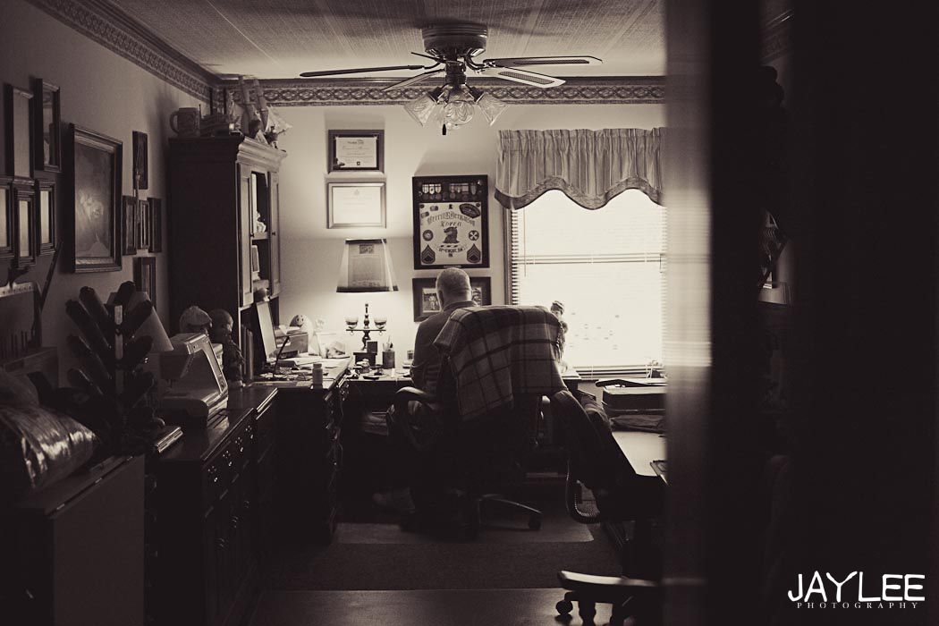grandpa in his den, grandpa in his study, grandpa in his office, lifestyle portraits