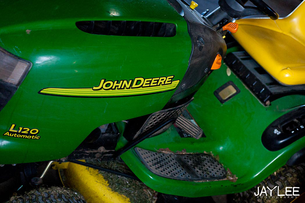 john deere, grandpa's garage, seattle lifestyle photographer