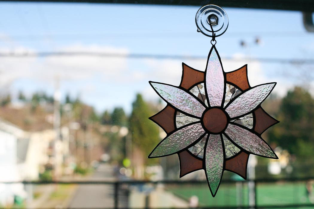 seattle photographer blog, stained glass suncatcher, sun catcher, sunny day seattle