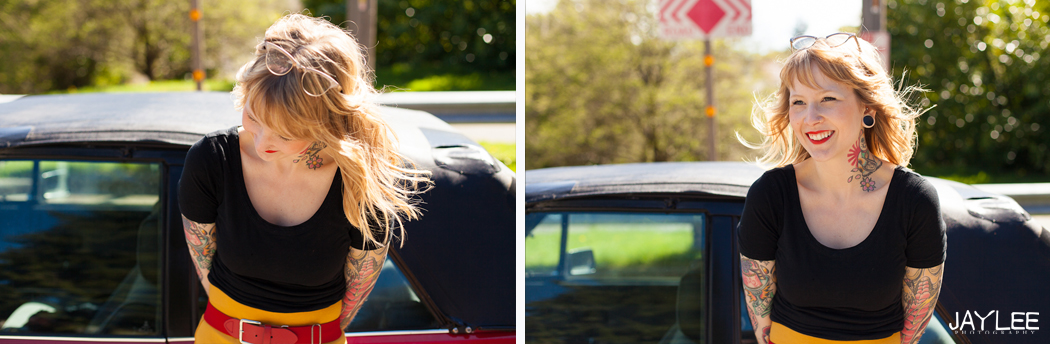 car portraits, vintage car portraits, tattoo portrait, tattoo photography, seattle portrait photography, awesome seattle photographer, offbeat bride photographer, apw photographer, seattle unique photos