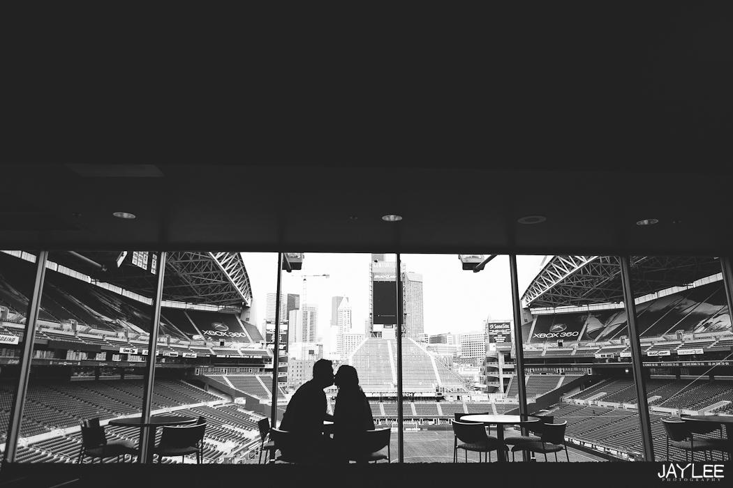 seattle stadium engagement, sports engagement, jerseys engagement, unique engagement ideas, seattle engagement photographer, apw photographer seattle, beautiful engagement session, photojournalist photographer seattle, wedding photographer seattle