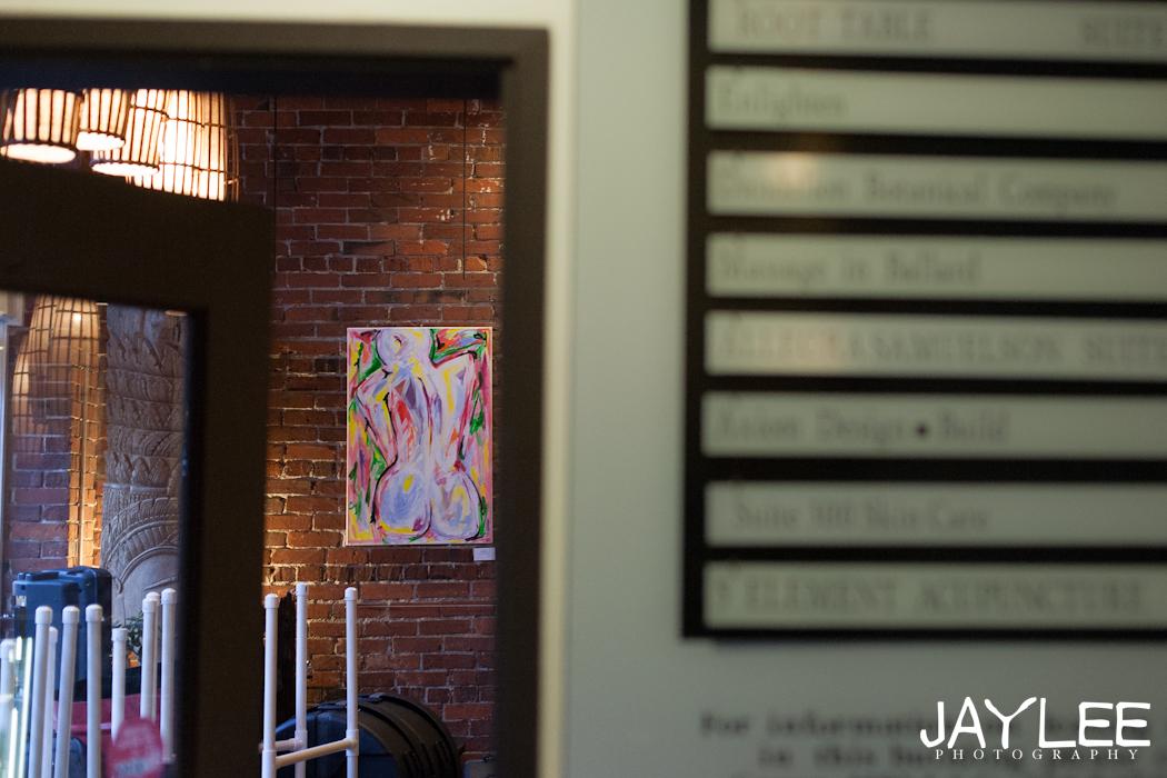 seattle art show, seattle abstract art, seattle abstract nude painting, abstract nude painting, large art seattle, seattle photographer