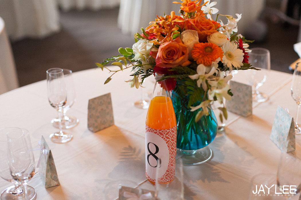 table setting photography, wedding reception photography, orange wedding