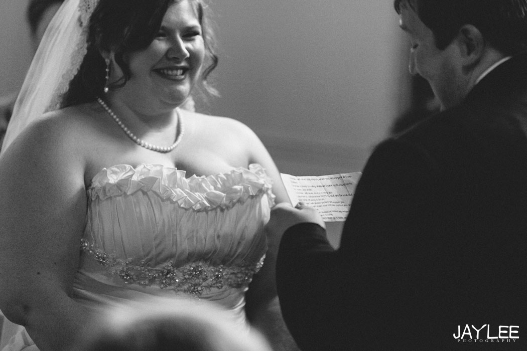 reading vows wedding photography