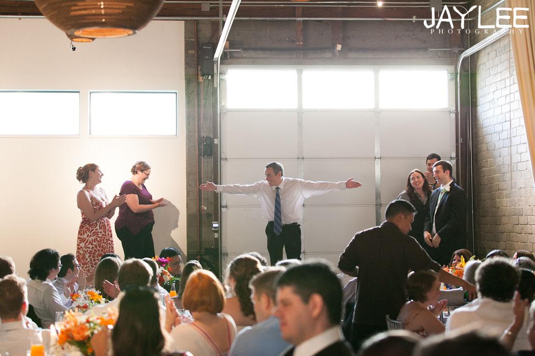 improv comedy wedding reception