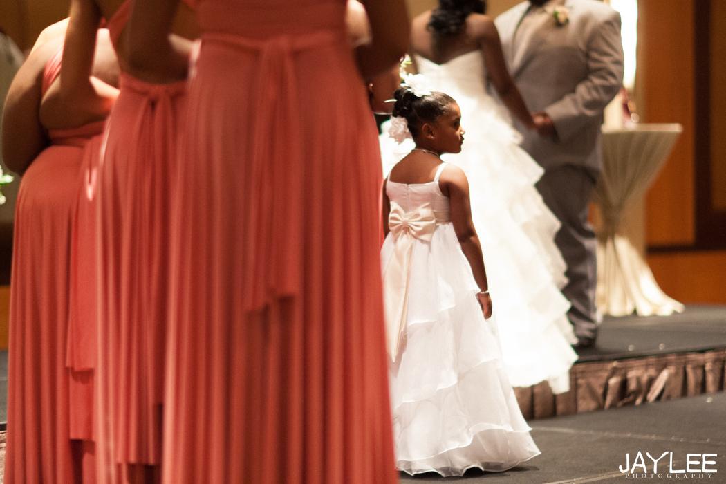 flower girl, seattle wedding photographer, hyatt ceremony