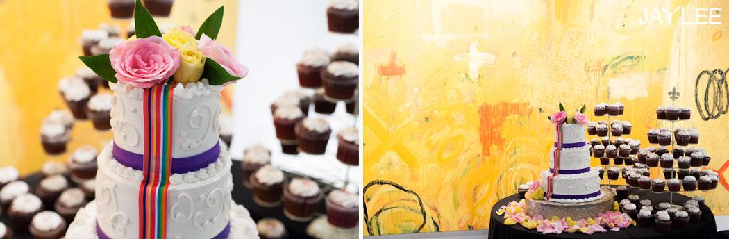 wedding cupcakes, art gallery wedding reception