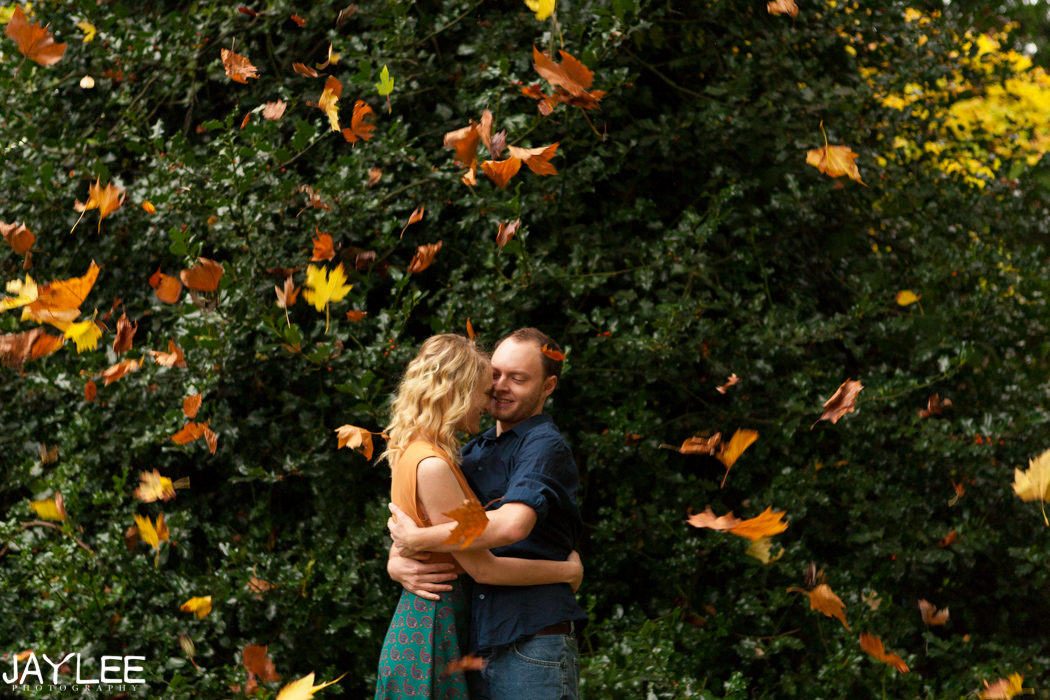 fall engagement seattle, seattle engagement photography, seattle engagement photographers, seattle wedding photographers, seattle fall engagement session, beautiful wedding photography seattle, unique wedding photography seattle, unique engagement photography seattle, trendy wedding photographer seattle, offbeat wedding photographer seattle, candid engagement photography seattle, throwing leaves engagement, leaves engagement session