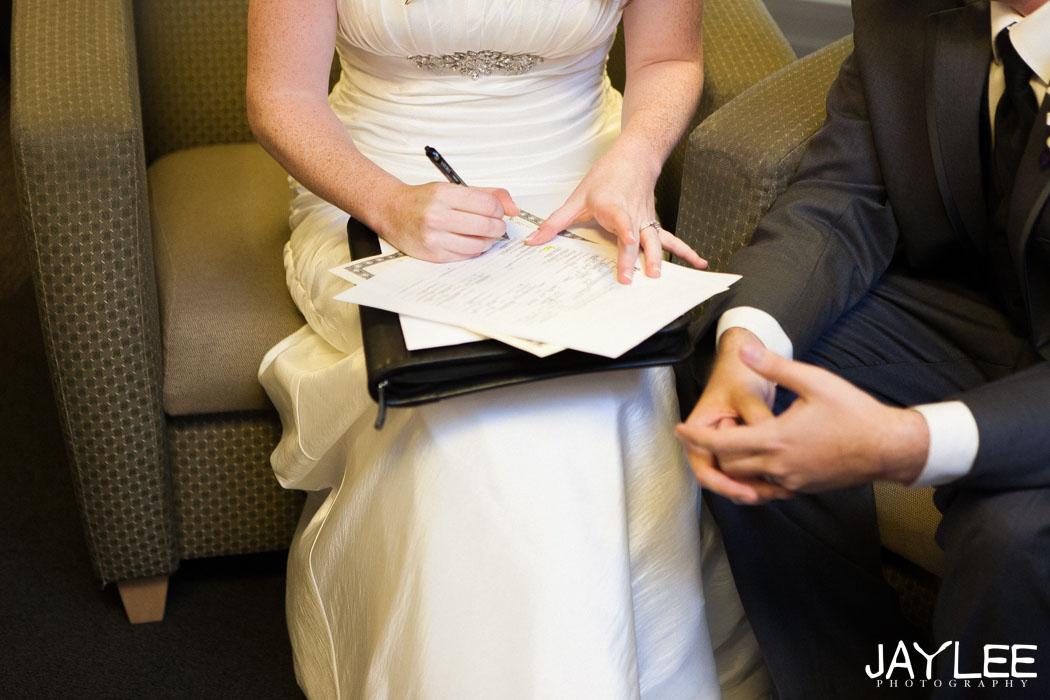 signing wedding photography