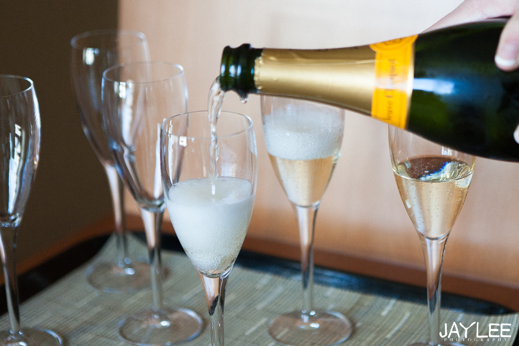champagne toast at grand hyatt in seattle, washington
