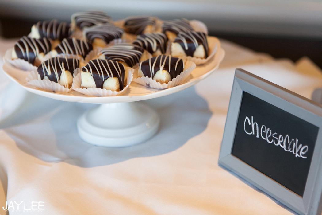 wedding desert table cheesecake bars