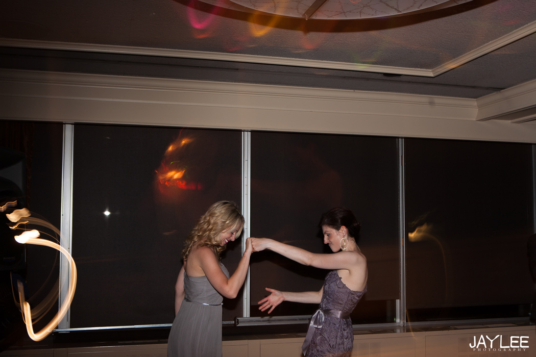 dancing at reception after seattle wedding