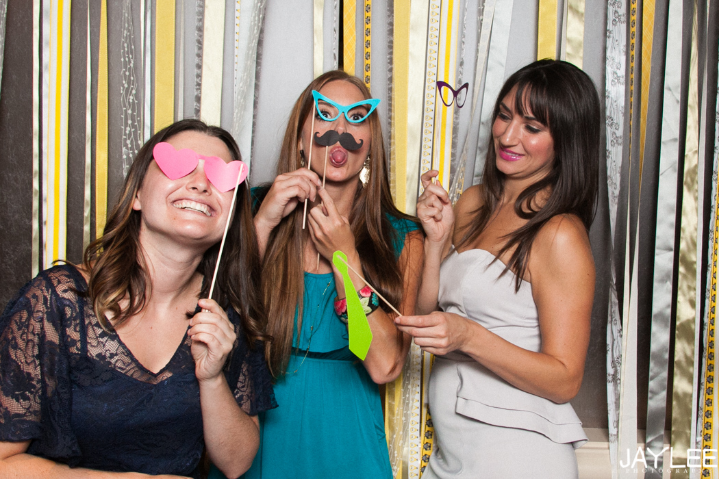 seattle wedding reception photobooth with props