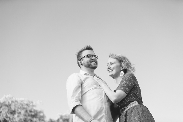 hip engaged couple for summer seattle photoshoot