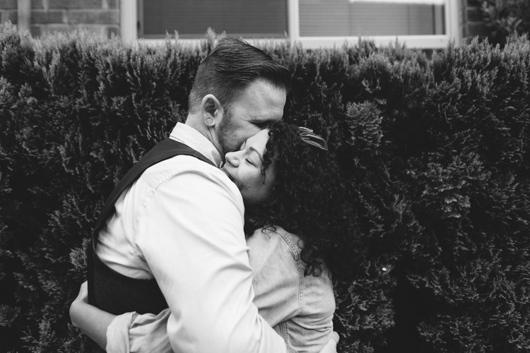 sweet moment during seattle engagement session