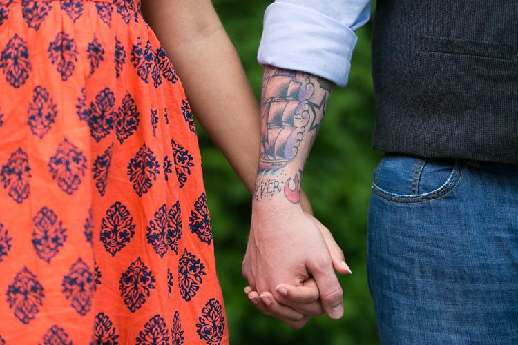 star wars tattoo engagement session
