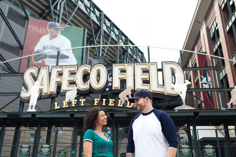 engaged seattle mariners fans at safeco field