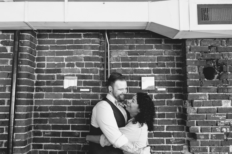 bow tie and vest for engaged seattle couple
