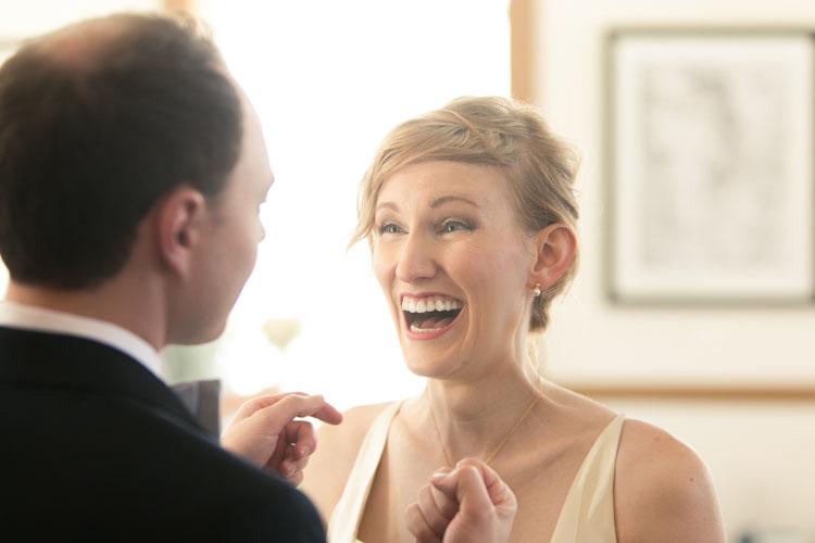 laughing bride in steilacoom, wa