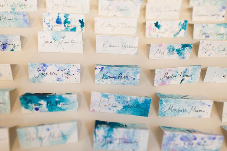 watercolor diy name cards