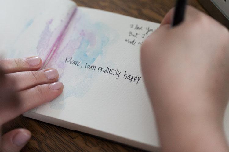 watercolor guestbook