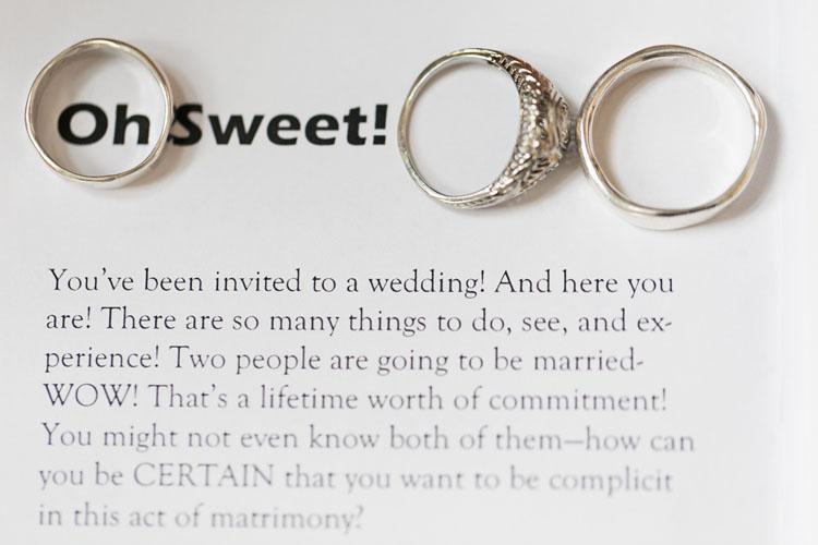 turtle love company wedding rings on funny wedding program