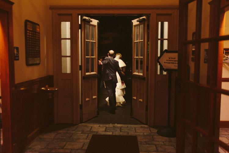bride and groom grand exit wedding reception