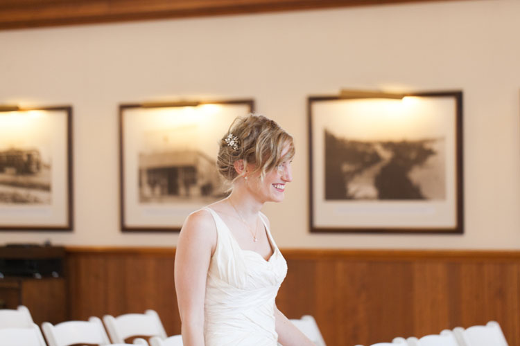 smiling bride at steilacoom town hall