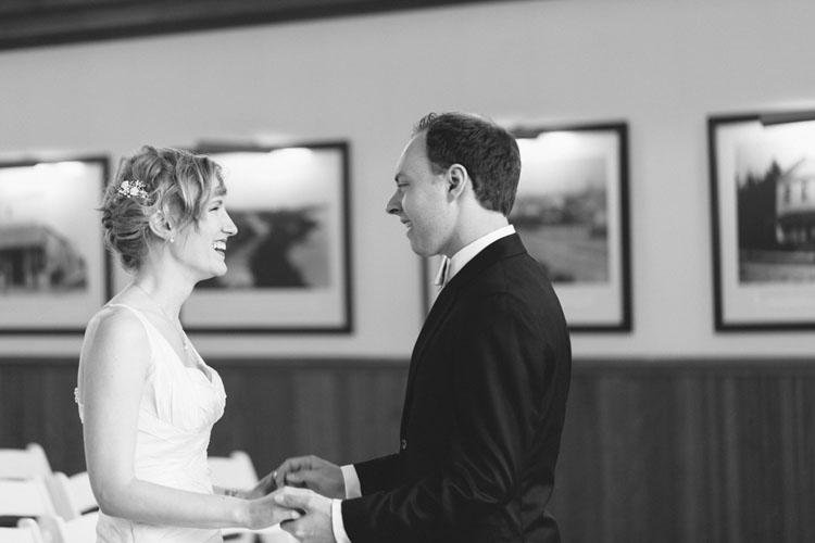 bride and groom first look in steilacoom, washington