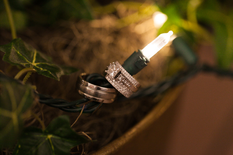 diamond wedding ring christmas light
