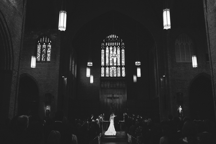 indoor catholic church ceremony seattle