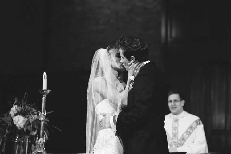 first kiss catholic wedding ceremony