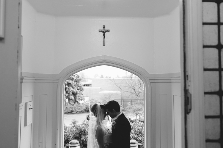 bride and groom catholic church