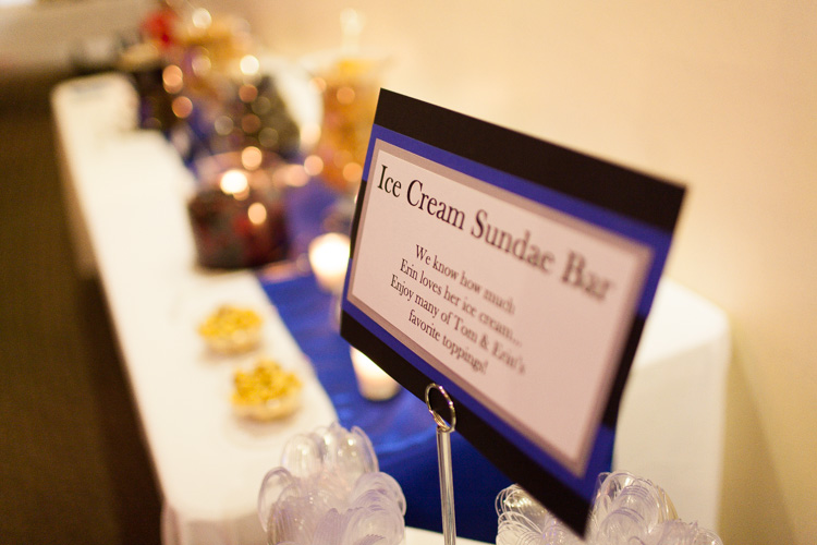 ice cream sundae bar at wedding in seattle, wa