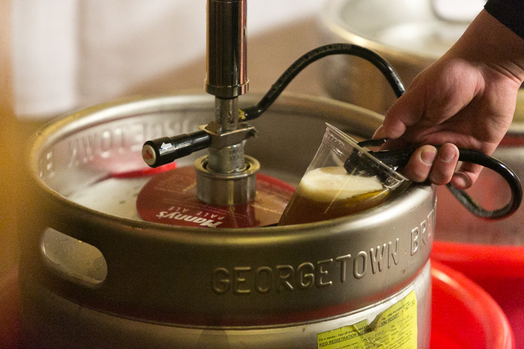 keg of georgetown manny's pale ale at wedding in seattle, washington