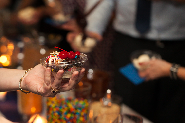 ice cream sundae bar seattle wedding reception