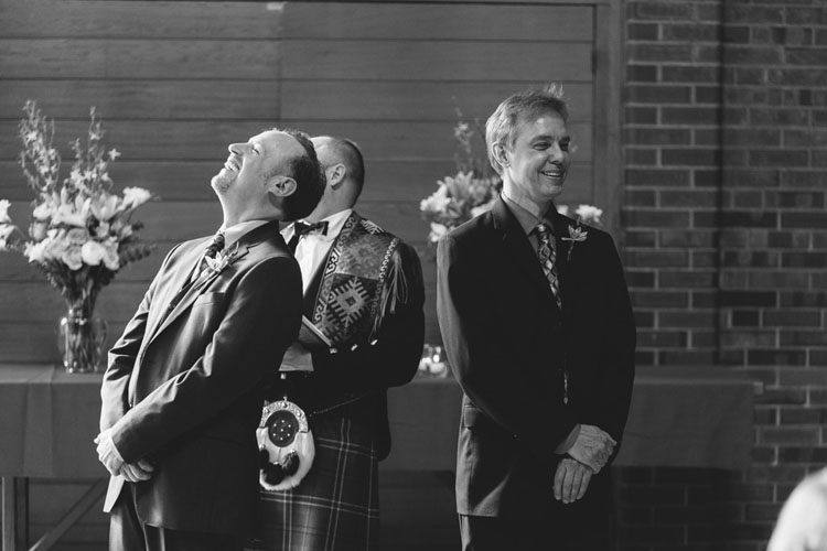 groom laughing gay wedding ceremony