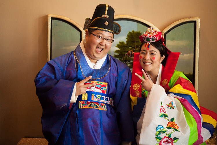 Korean bride and groom