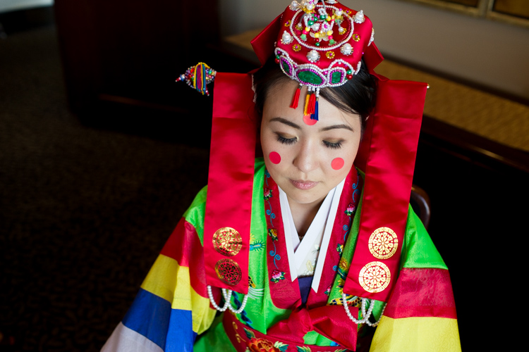 hanbok ceremonial dress, Korean bride, Korean wedding Seattle