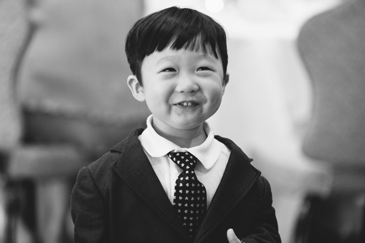 adorable little boy at wedding