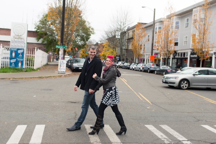 couple walking in capitol hill seattle