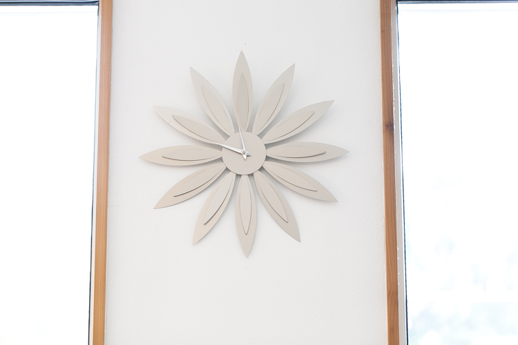 flower petal wall clock