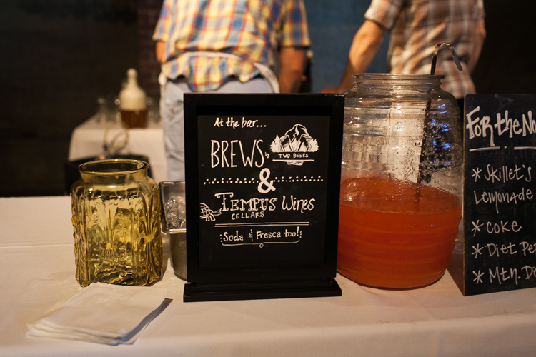 craft brew wedding reception