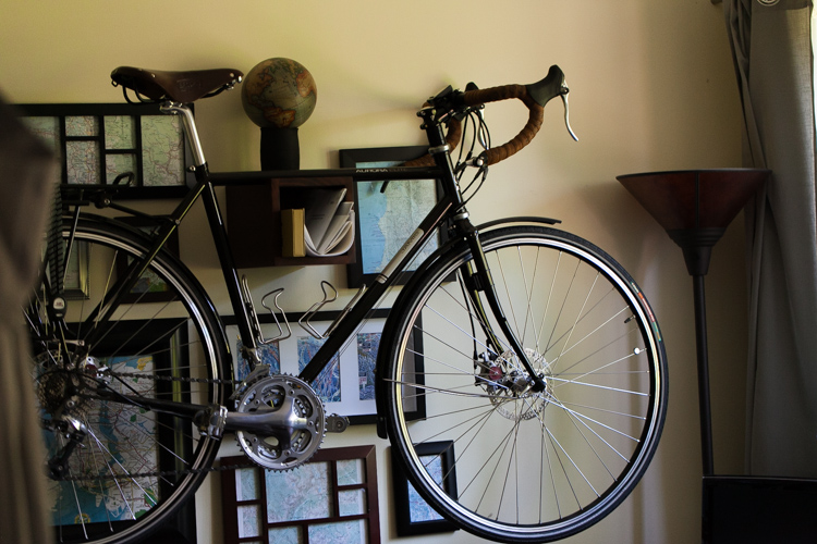 seattle home decor wall mount bike