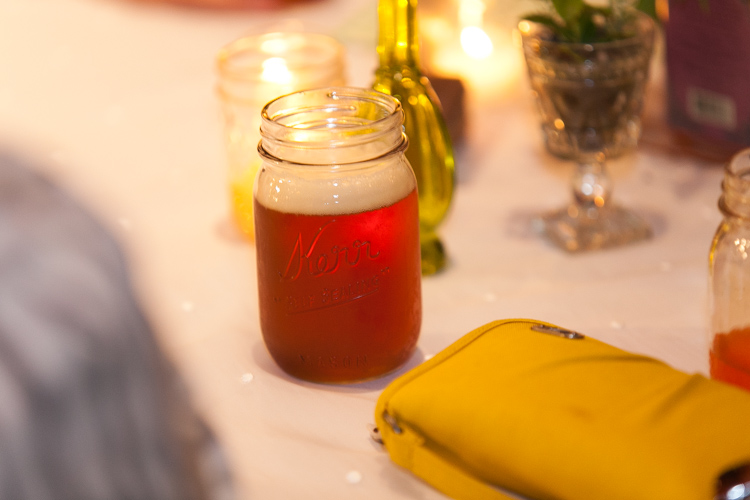 craft brews in mason jars wedding reception